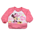 Disney(ディズニー) ミニーちゃん  お食事用 長袖エプロン 食べこぼしポケット付き (010216-10)