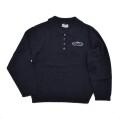 レトロ COEUR a COEUR 無地 衿つきセーター 紺  (2102-3403)