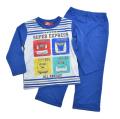 でんたま(新幹線)  光る Tシャツ生地 長袖パジャマ (131DT8071)