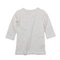 9分丈袖 Tシャツ ホワイト 無地 綿100% 95cm(6001-1368)