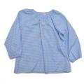 スモック 長袖 ブルー 120cm 格子柄  (40-162-BU)