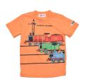 きかんしゃトーマス 半袖Tシャツ オレンジ 90cm-130cm (322162019-22)