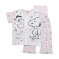 スヌーピー Snoopy 女児 半袖パジャマ 前ボタン 腹巻付き 90cm/95cm (152703-PK)