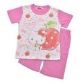 ハローキティ 光る 半袖Tシャツ生地のパジャマ  100-130cm(132KT0101-RP)