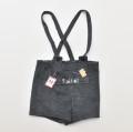レトロ チルドレン 刺繍付き 吊りひも付き ショートパンツ 5-6才  (1910-0129)