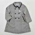 日本製 チャイルドのウールの上品なお洒落コート 男女兼用 7-8才用 (1910-0220)