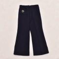 レトロ チャイルドの 刺繍付き 長パンツ ズボン  ネイビー 100cm(1910-0492)