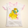 ディズニー!Princessプリンセスの三分袖スリーマ 100~120cm(R5806-10)