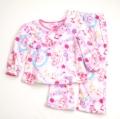 ぼんぼんりぼん もこもこ長袖パジャマ ピンク100-130cm(634BB107113)