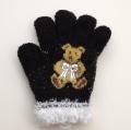 日本製  のびのび五指手袋 キッズ/ジュニア 16cm クマ  (1610-1716)