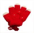 日本製  ひも付き手袋 のびのび五指タイプ 12cm 赤花  (1610-1764)