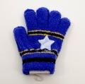 日本製  のびのび五指手袋 キッズ/ジュニア 15cm 星  (1610-1801)
