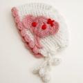 可愛いニット帽子 手編み 象さん フリーサイズ (1611-2304)