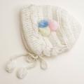 可愛いニット帽子 手編み ボンボリ フリーサイズ (1611-2310)