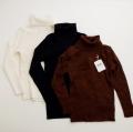 日本製 フクスケPimの上品な柔らかニットセーター(タートルネック) 100cm-120cm (1702-3835)