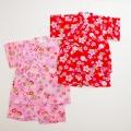 日本製 甚平スーツ 祭り 女の子 手毬  80cm/90cm/95cm(720915)