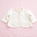 日本製 女の子の刺繍つき長袖ボレロ  75cm (0703-4186)