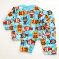 アンパンマン フリース総柄パジャマ ブルー 80cm (FA2369)