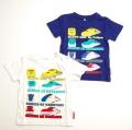でんたま(新幹線) 半袖Tシャツ 100cm/110cm/120cm/130cm (742DM0021)