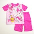 サンリオ ハローキティ 半袖Tシャツ生地のパジャマ  100-120cm(732KT007112)