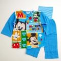 Disney(ディズニー)ミッキー前ボタン ロールアップ式 腹巻付き長袖パジャマ 90cm/95cm (A7301)