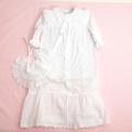 日本製 新生児 セレモニードレス 退院用 お宮参り用 ベビードレス スタイ付き 2点セット(1705-5235)