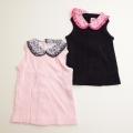日本製 チャイルドの襟付きノースリーブのシャツ 12ヶ月/24ヶ月(1705-5455)