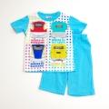 でんたま(新幹線)半袖Tシャツ生地のパジャマ 100-130cm(732DT007)