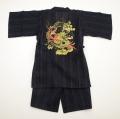 甚平スーツ 祭り 龍神 男の子 140cm/150cm/160cm(74586-BK)