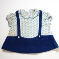 日本製 チャイルドちょうちん袖のお洋服 12か月 (1707-6311)