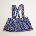 日本製 花柄の吊りスカート 2−3才用 (1707-6325)