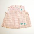 日本製 チャイルドノースリーブのスカート ピンク 6か月 (1707-6338)