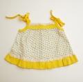 日本製 チャイルドのお洋服 小花 イエロー 12か月 (1707-6349)