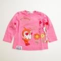 アンパンマンガール ドキンちゃん しょくぱんまん 長袖Tシャツ  90cm-110cm (EA3528-EA9128)