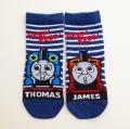 きかんしゃトーマス ジェームス 靴下 左右柄ちがい 12-15cmスベリ止メ付き(1712-731-700)