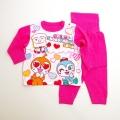 ドキンちゃんとコキンちゃん 腹巻つき長袖パジャマ 80cm-95cm (EA2823-P)