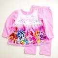 キラキラ プリキュアアラモード  光るパジャマ 裏起毛 長袖 上下セット 110cm  (2388968)