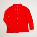 レトロ ボタンダウンシャツ レッド色 7−8才 (1710-8278)