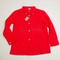 レトロ チャイルド ボタンダウンシャツ レッド色 7−8才 (1710-8281)