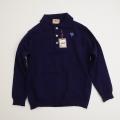 レトロ チャイルド 衿つきセーター 紺 5-6才(1710-8314)