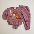 レトロ エンゼルベービーの刺繍つきお洋服 1-2才用(1710-8324)