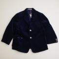 レトロ チャイルドのコーディロイ ジャケット 110cm 紺色(1711-8541)