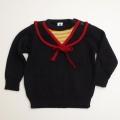 レトロ おとぎの国 セーラー衿のセーター 1才用 (1711-8553)