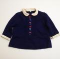 レトロ  衿つき紺色お洋服 2才 (1711-8622)
