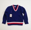 レトロ  おとぎの国 Vネックセーター 3−4才 (1711-8626)
