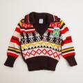 レトロ  おとぎの国 Vネックセーター 1-2才 (1711-8630)