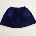 日本製 チャイルドスカート 紺色 100cm/105cm (1712-8761)