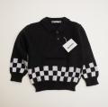 レトロ RICO MATE 衿つきセーター ブラック 95cm(1712-8811)
