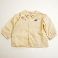 レトロ しんかんせん 新幹線 刺繍つき長袖シャツ 24か月 (1712-8830)