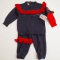 レトロ ヘンケル 刺繍つきのニットスーツ 1才用(75cm) (1712-8879)